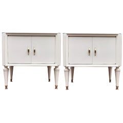 Italian Pair of Mid-Century Side Tables or Night Stands
