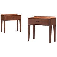 Italian Pair of Nightstands in Walnut, 1960s