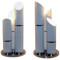 Italian Pair of Table Lamps Attributed to Reggiani