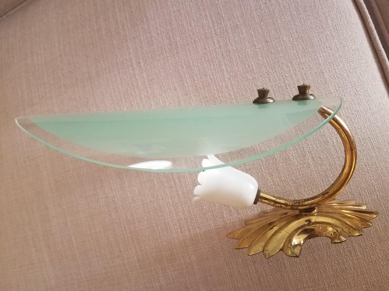 Mid-20th Century  Italian Pair of Wall lights after Max Ingrand For Sale