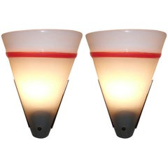 Italian Pair of Wall Sconces after Roberto Pamio & Renato Toso