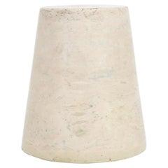 Italian Pale Cream Solid Architectural Marble Cone Form