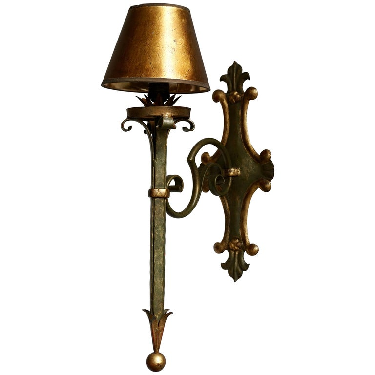 Italian Palladio Wall Light For Sale