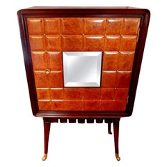 Italian Paolo Buffa Attributed Cabinet with Brass Hardware, Made in Milan