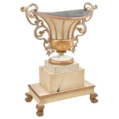 Italian Parcel-Gilt Large Campana Shaped Urn, circa 1850