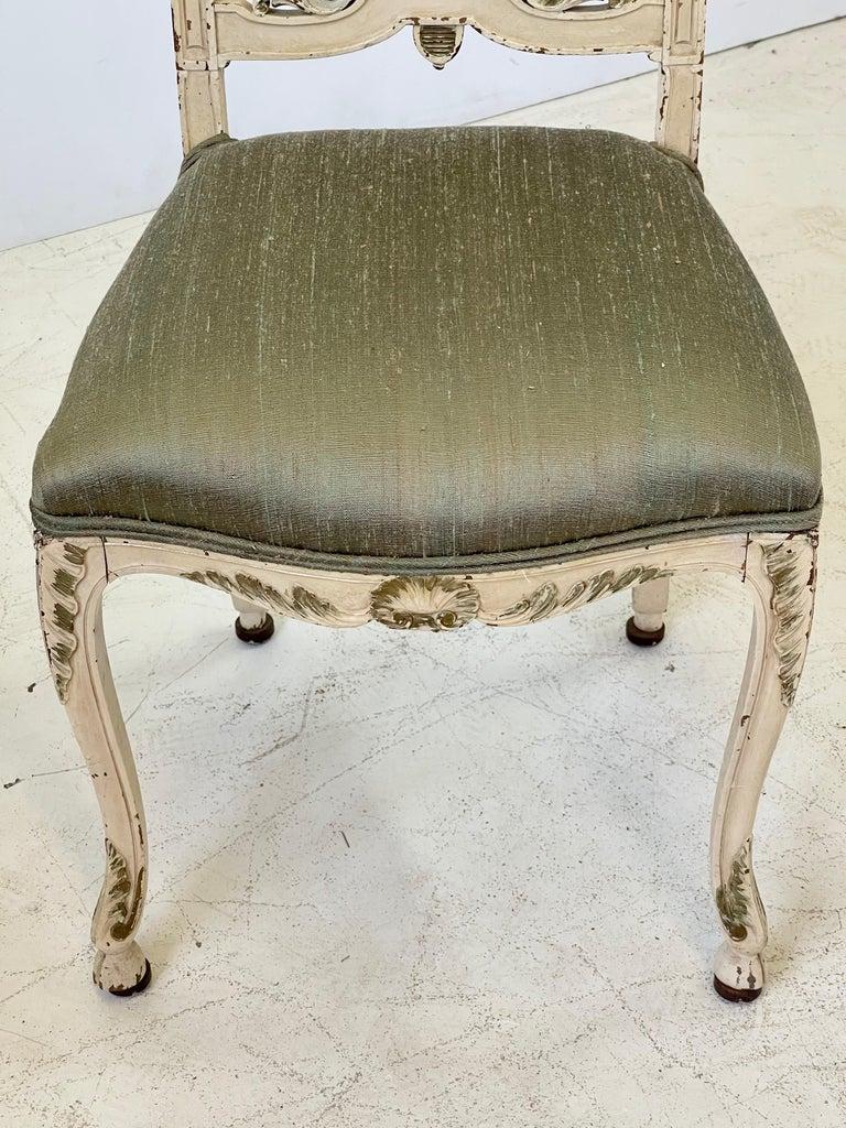 Italian Parcel Gilt Vanity Chair For Sale 5