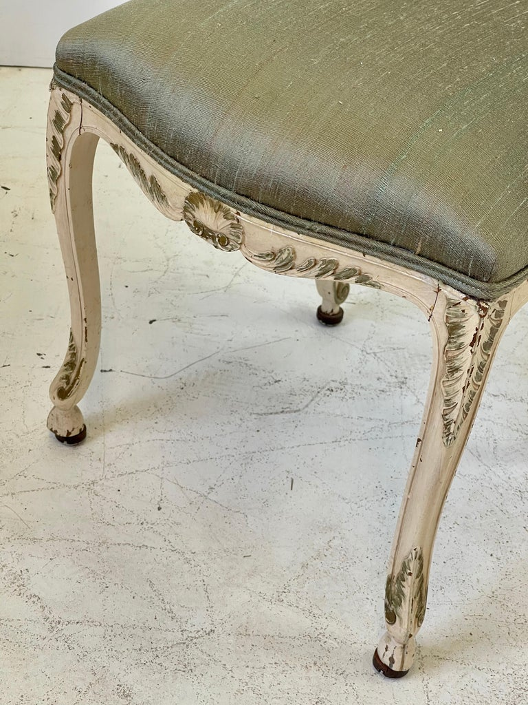 Italian Parcel Gilt Vanity Chair For Sale 6