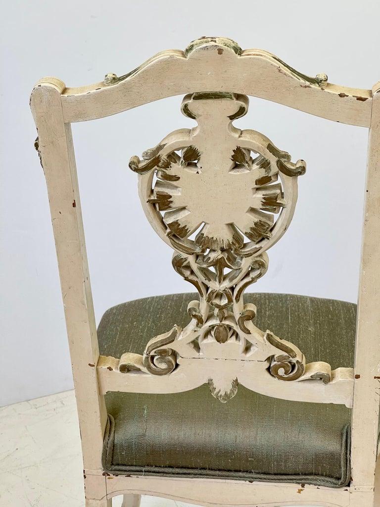 20th Century Italian Parcel Gilt Vanity Chair For Sale