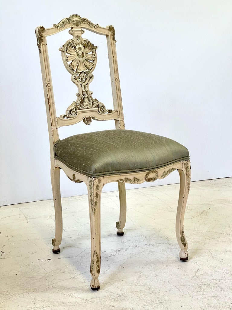 Italian Parcel Gilt Vanity Chair For Sale 1