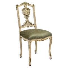 Italian Parcel Gilt Vanity Chair