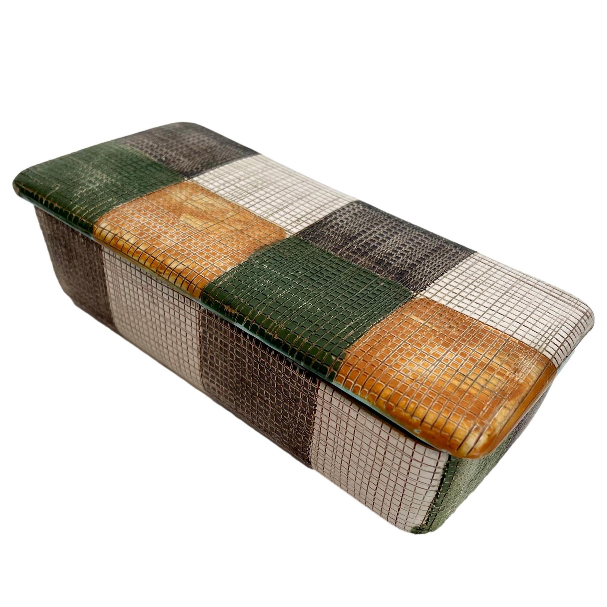 Italian Patchwork Ceramic Box