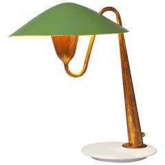 Italian Patinated Brass Desk Light, circa 1950