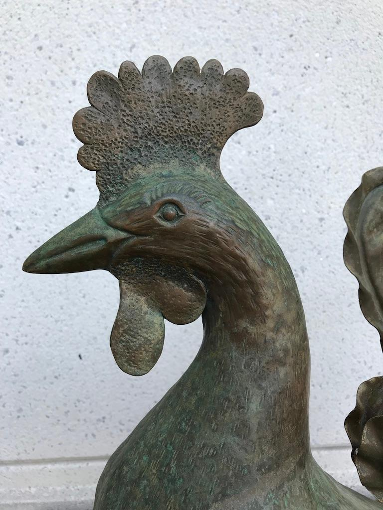 Other Italian Patinated Wrought Iron Rooster For Sale