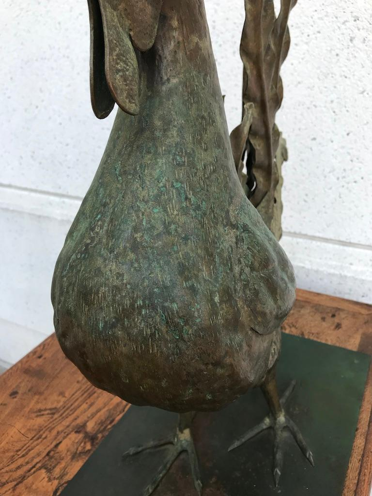 Italian Patinated Wrought Iron Rooster For Sale 4
