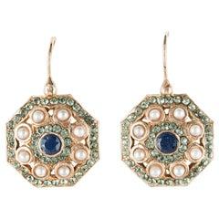 Italian Pearl Cristal Vermeil Drop Earrings