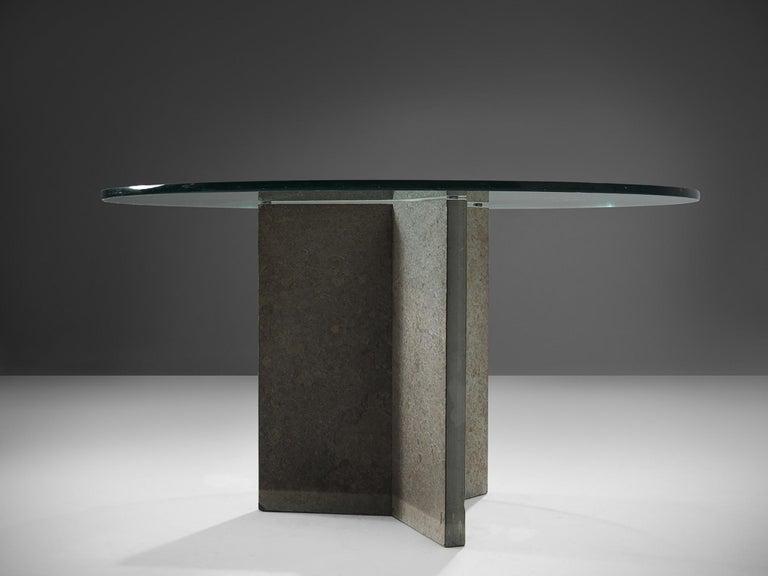 Post-Modern Italian Pedestal Center Table For Sale