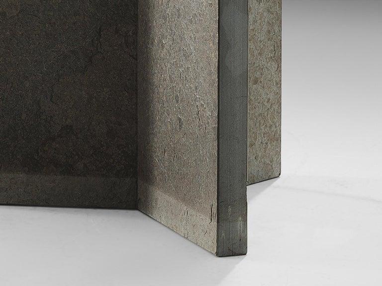 Stone Italian Pedestal Center Table For Sale