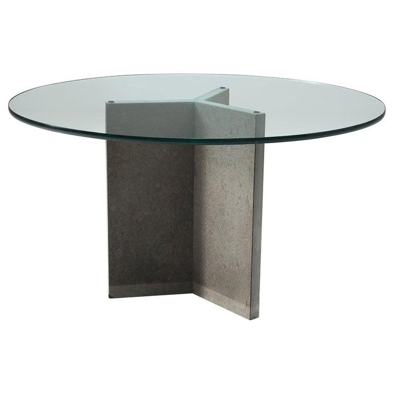 Italian Pedestal Center Table For Sale