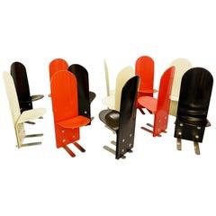 Italian Pellicano Chairs by Luigi Saccardo for Arrmet, 1970s, Set of 12