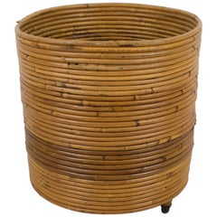 Italian Pencil Reed Rattan Bamboo Planter