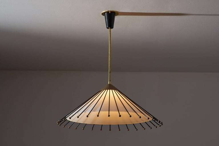 Mid-Century Modern Italian Pendant Attributed to Arredoluce For Sale