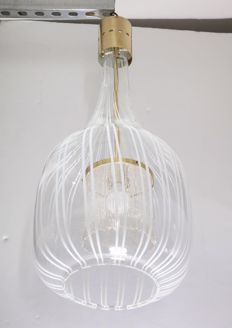 Italian Pendant Chandelier by Angelo Brotto for Esperia For Sale 6