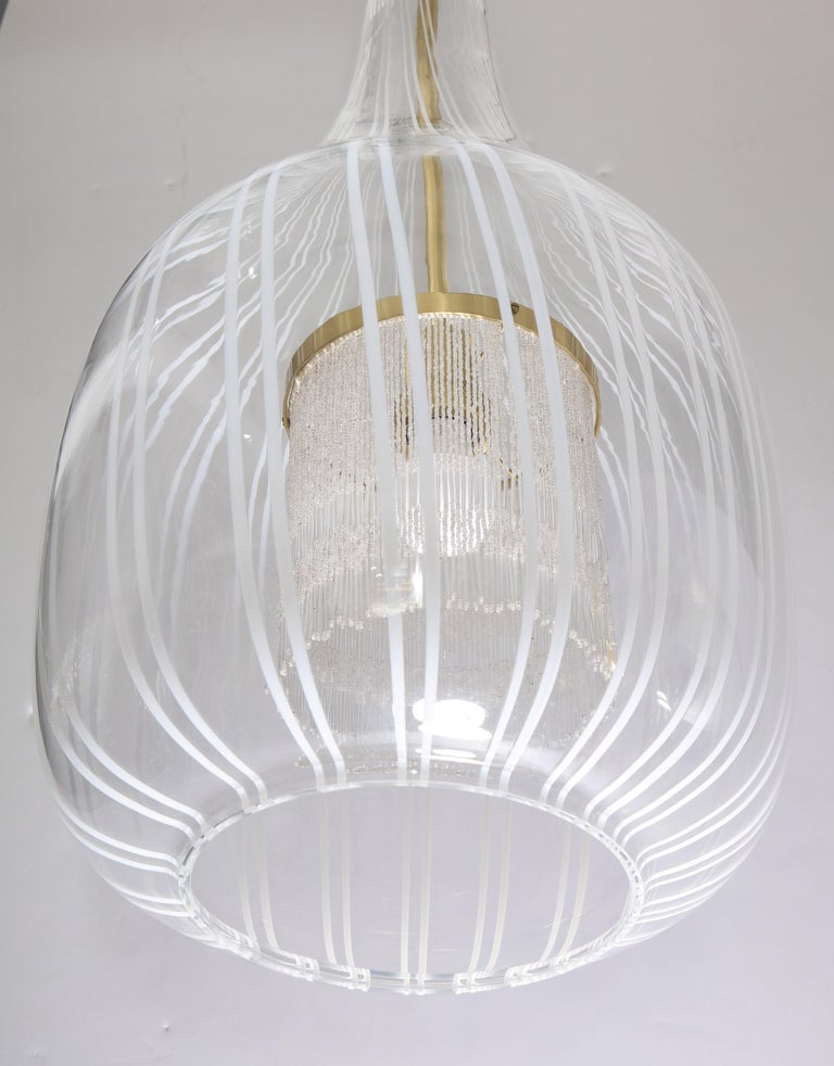 Italian Pendant Chandelier by Angelo Brotto for Esperia For Sale 8