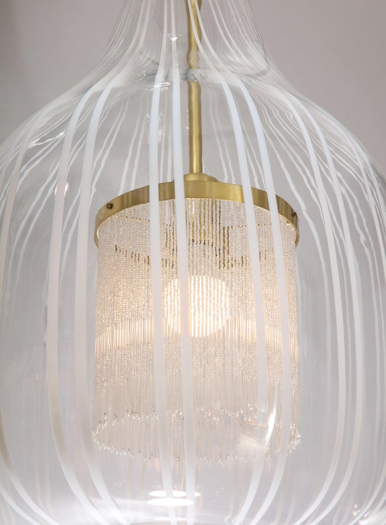 Italian Pendant Chandelier by Angelo Brotto for Esperia For Sale 9