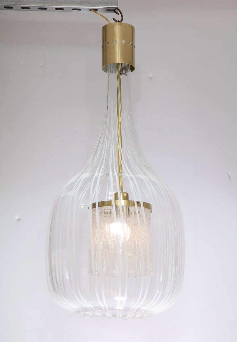 Mid-Century Modern Italian Pendant Chandelier by Angelo Brotto for Esperia For Sale