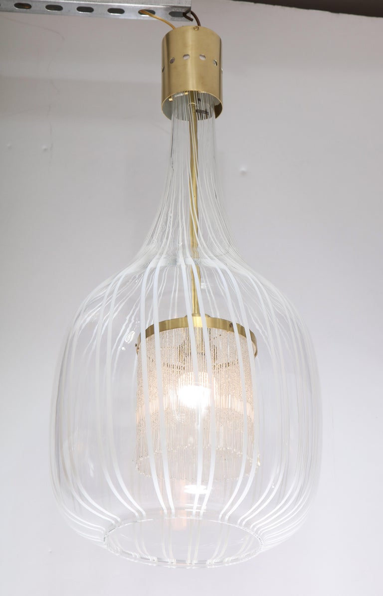 Italian Pendant Chandelier by Angelo Brotto for Esperia In Excellent Condition For Sale In New York, NY