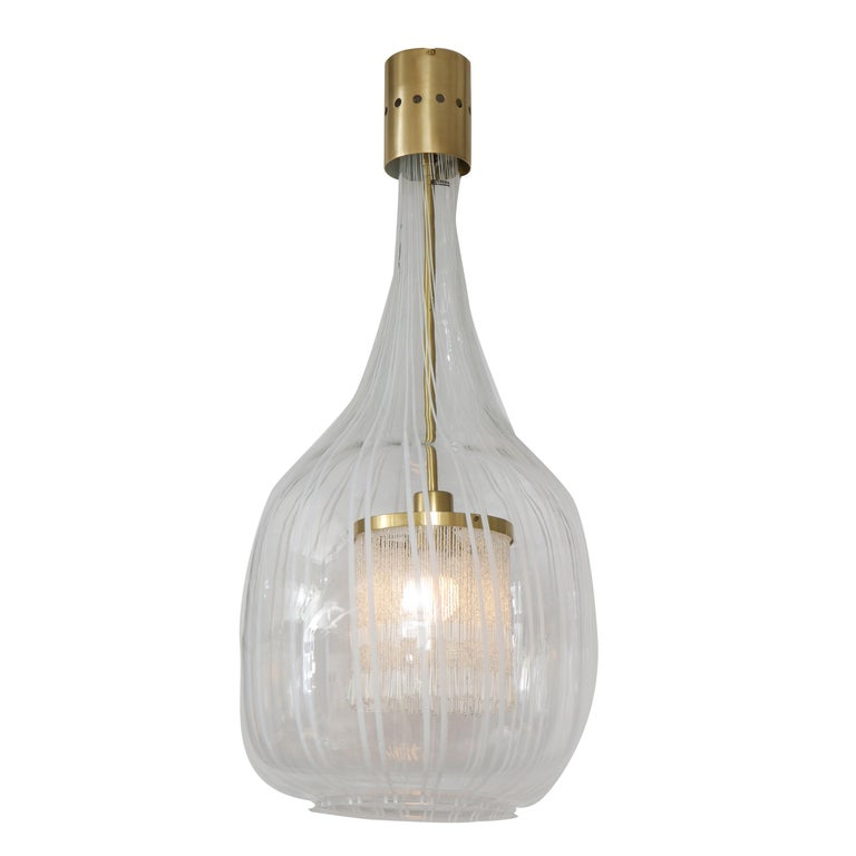 Italian Pendant Chandelier by Angelo Brotto for Esperia For Sale