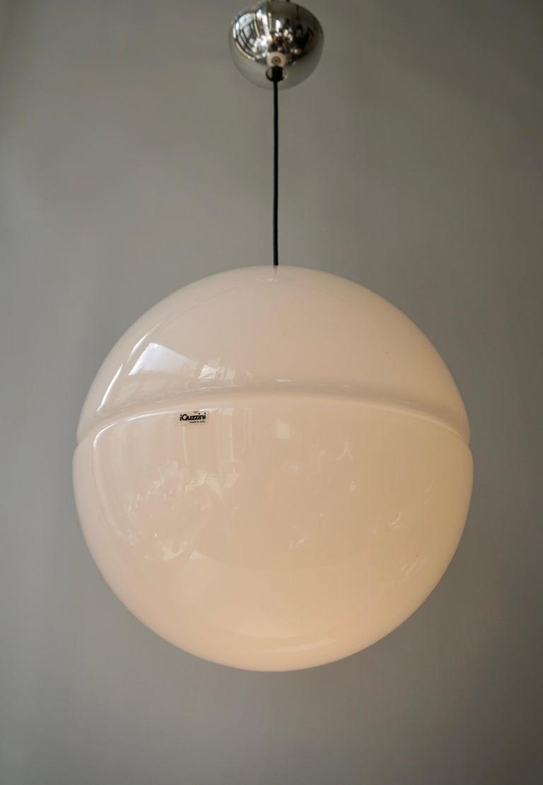 Elegant pendant lamp by Harvey Guzzini, Italy, 1960s.  Diameter.