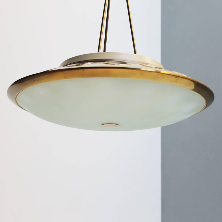 Italian Pendant Lamp by Lumen Milano For Sale 6