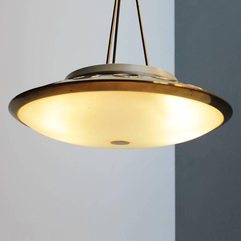 Italian Pendant Lamp by Lumen Milano For Sale 7
