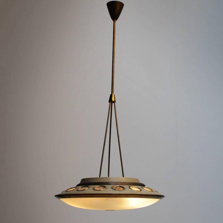 Mid-Century Modern Italian Pendant Lamp by Lumen Milano For Sale
