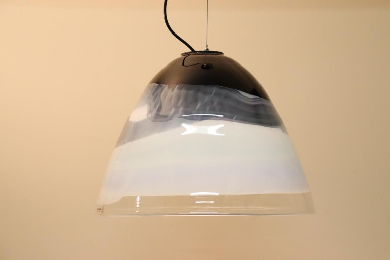 Italian Pendant Light Murano Hand Blown Glass by Murano Due For Sale 6
