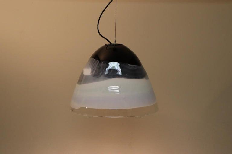 Italian Pendant Light Murano Hand Blown Glass by Murano Due For Sale 7