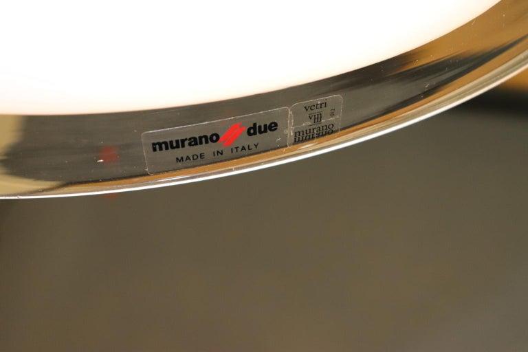 Italian Pendant Light Murano Hand Blown Glass by Murano Due For Sale 8
