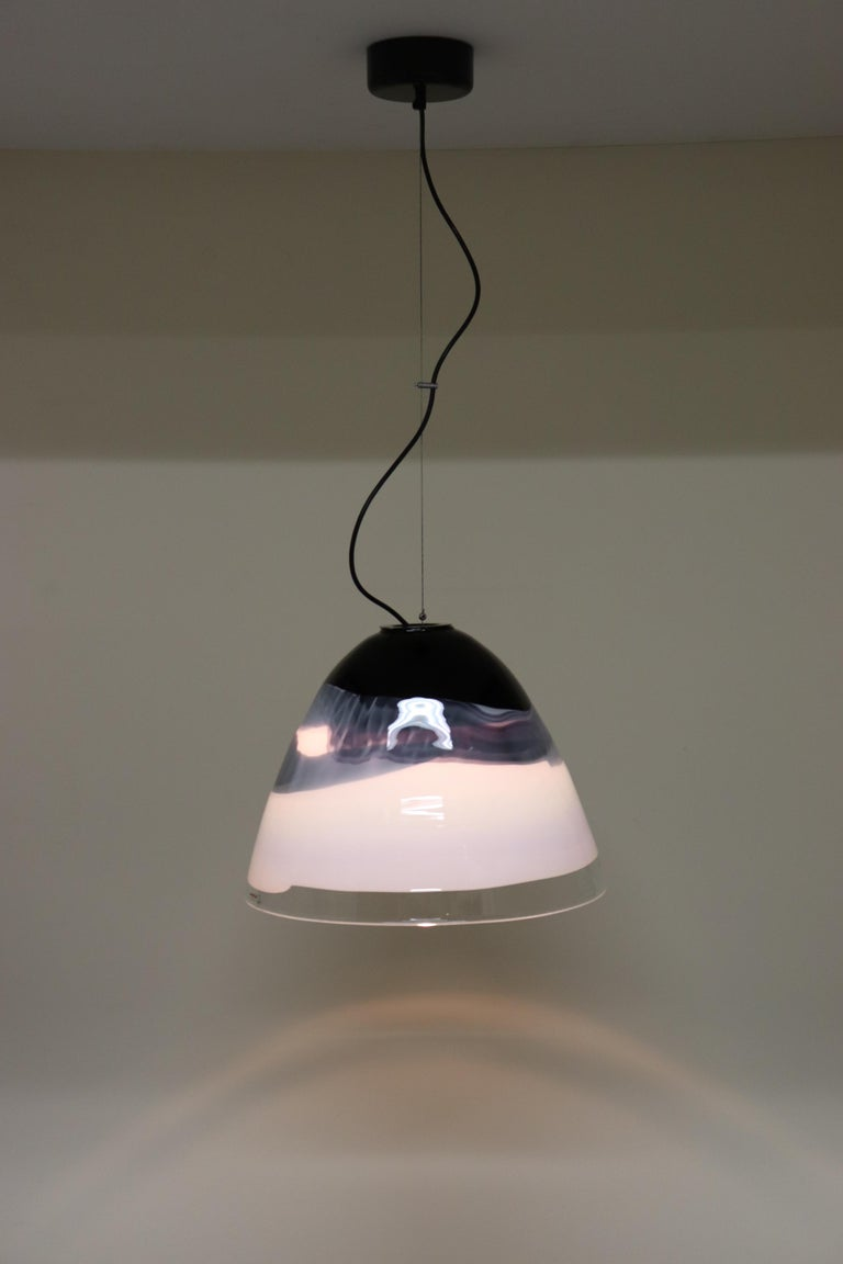 Italian Pendant Light Murano Hand Blown Glass by Murano Due In Excellent Condition For Sale In Saddle Brook , NJ