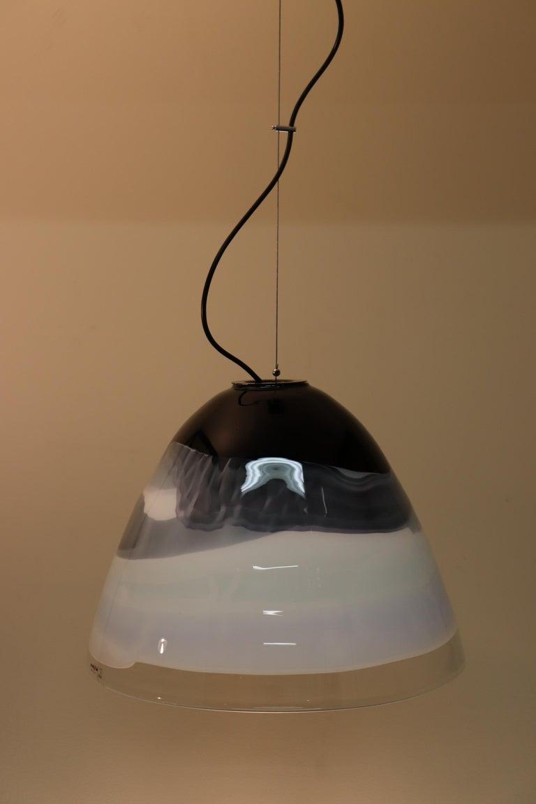 Italian Pendant Light Murano Hand Blown Glass by Murano Due For Sale 2
