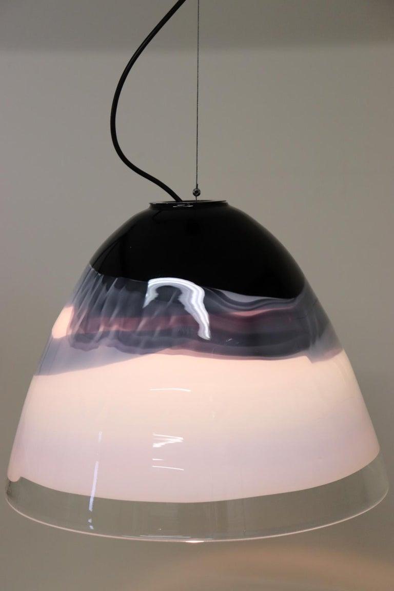 Italian Pendant Light Murano Hand Blown Glass by Murano Due For Sale 3