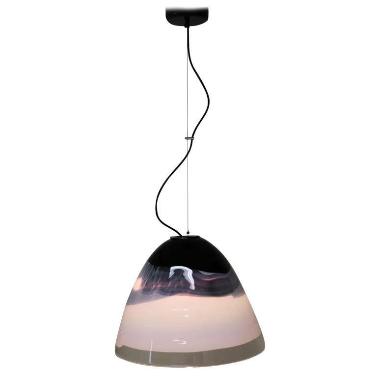 Italian Pendant Light Murano Hand Blown Glass by Murano Due For Sale