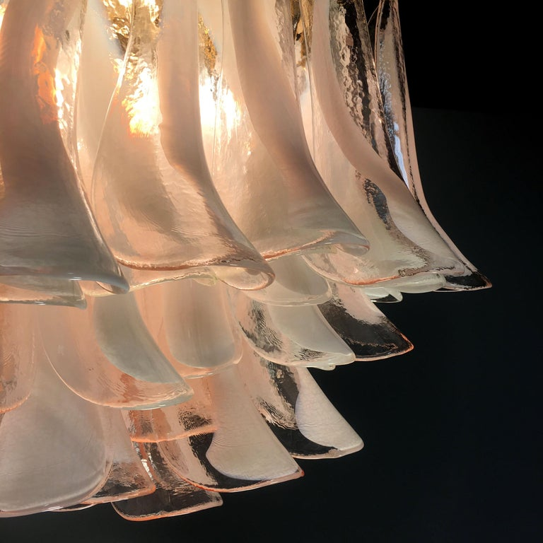 Italian Petals Chandelier Ceiling Light, Murano 11