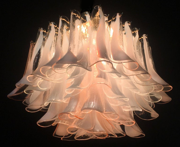 20th Century Italian Petals Chandelier Ceiling Light, Murano
