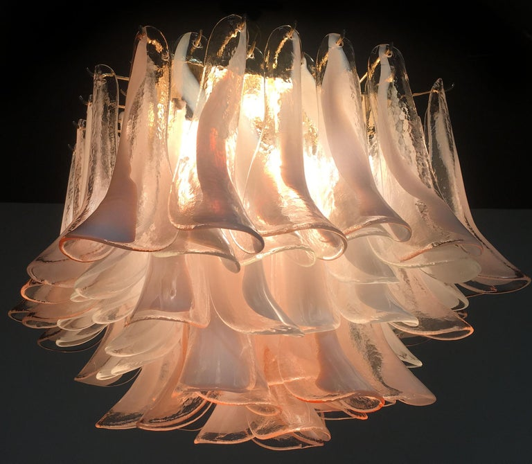 Italian Petals Chandelier Ceiling Light, Murano 2