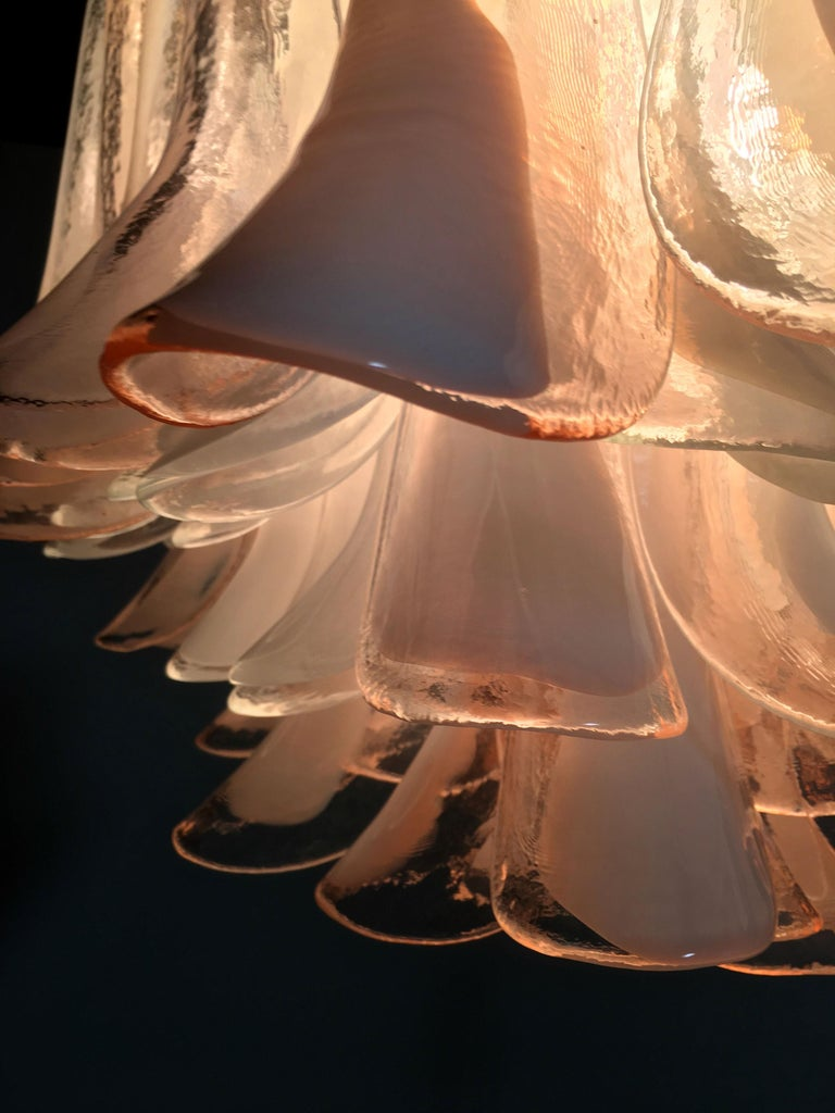 Italian Petals Chandelier Ceiling Light, Murano 4