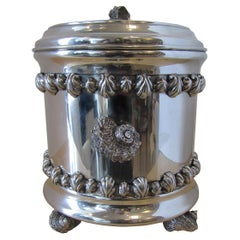 Italian Pewter Ice Bucket and Tongs, Richard Cipolla