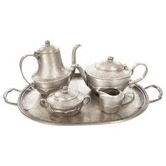 Italian Pewter Tea Service