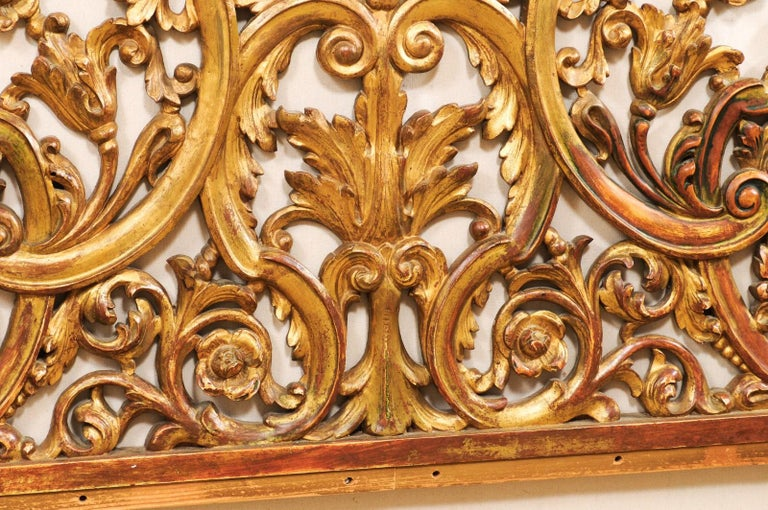 Italian Pierce-Carved and Giltwood Fragment Stands Great Headboard For Sale 5