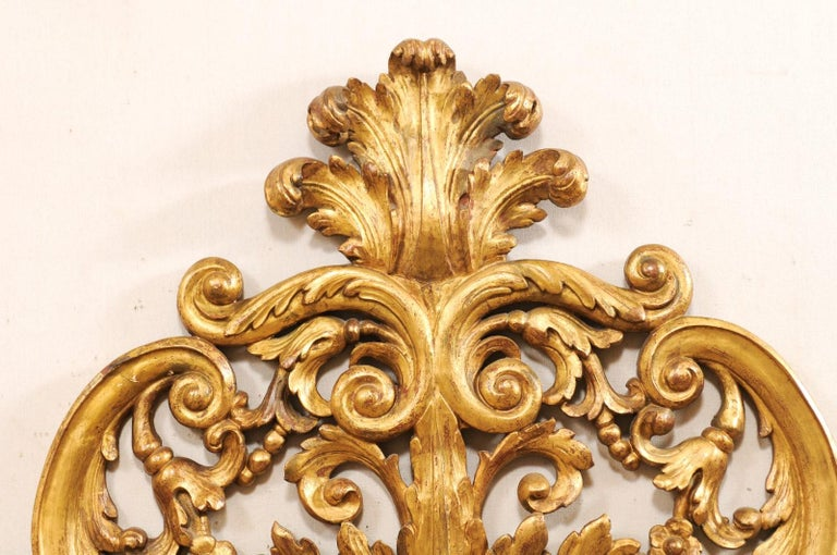 Italian Pierce-Carved and Giltwood Fragment Stands Great Headboard For Sale 1
